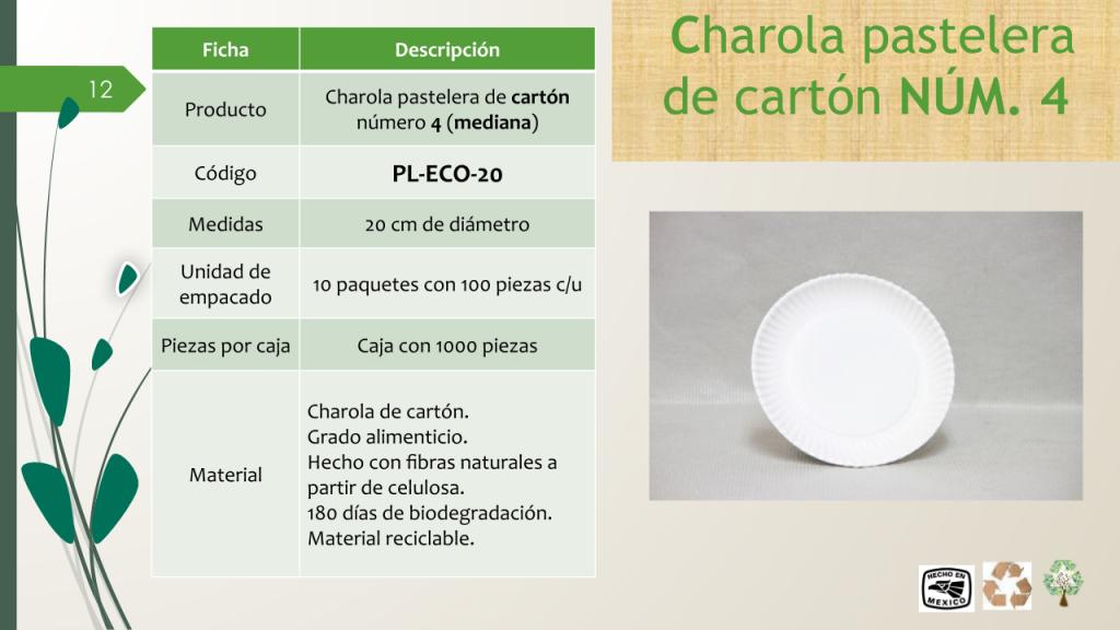 Charola pastelera de cartón número 4 (mediana)